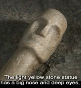 europeoids china ancient statues tombs Burqin County funerary squatting man
