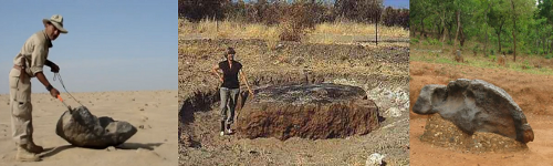 iron meteorites leave no impact craters